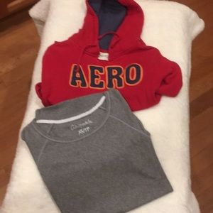 Two sweatshirts by Aeropostale long sleeve sz sz
